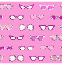 Seamless pattern women fashion sunglasses vector