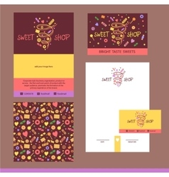 stationery template design for cafe shop vector image vector image