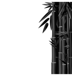 Stems and Bamboo Leaves Background vector image
