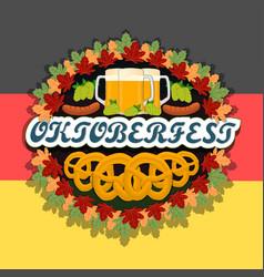 The theme oktoberfest vector