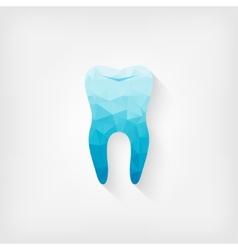tooth blue polygon symbol vector image