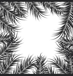 Tropical design with black palm leaves and plants vector
