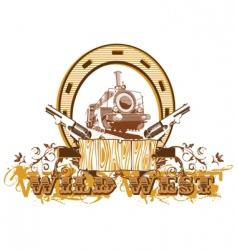 wild west vignette ii vector image