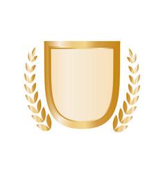 wreath emblem symbol vector image