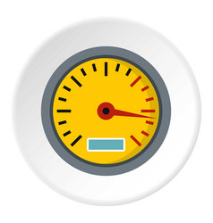 Yellow speedometer icon circle vector