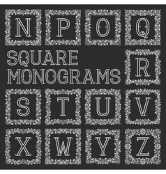 Vintage monograms set letters from n to z in vector