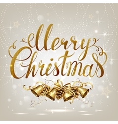Merry Christmas inscription on the light vector image