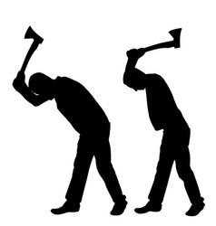 men with axes vector image