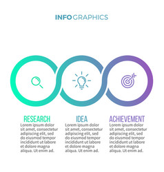 Business infographics timeline with with 3 vector