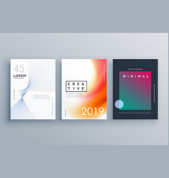 Cover template in minimal style with abstract vector