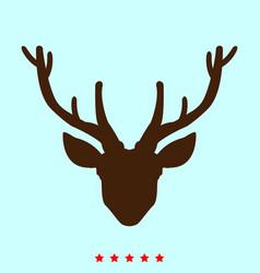 head deer set it is color icon vector image