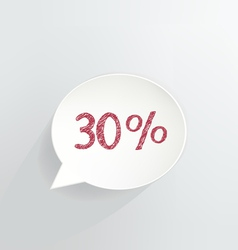 Thirty percent discount vector