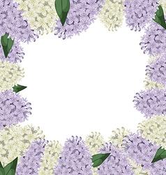 lilac border vector image