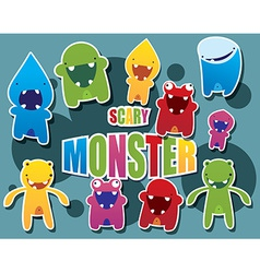 Cute colorful monsters vector
