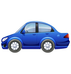 A blue vehicle vector