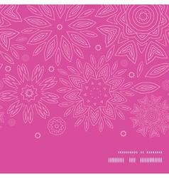 Pink abstract flowers texture horizontal frame vector