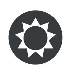 Monochrome round sun icon vector