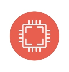 Circuit board thin line icon vector