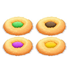 Cookies with color frosting vector