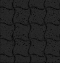Textured black plastic wavy grid vector