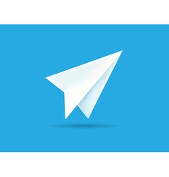 Origami Paper Airplane on Blue Background can be vector image