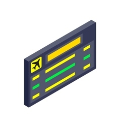 Scoreboard air travel isometric 3d icon vector