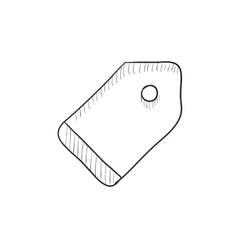 Empty tag sketch icon vector