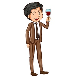A simple man wearing a formal attire vector