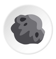 Asteroid icon circle vector