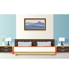 Bedroom flat vector