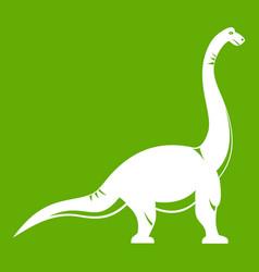 brachiosaurus dinosaur icon green vector image vector image