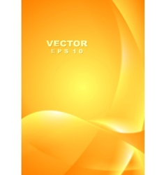 Bright yellow orange waves background vector