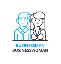 businessman businesswoman concept outline icon vector image