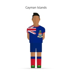 Cayman islands football player soccer uniform vector