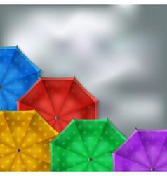 colored umbrellas background vector image