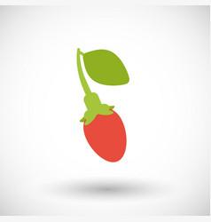 goji berry flat icon vector image