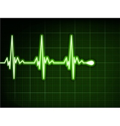 Green heart beat Ekg graph EPS 8 vector image vector image