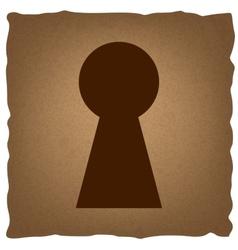 Keyhole sign vintage effect vector