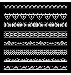 Lace borders set vector image vector image