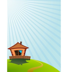 little house on the hill vector image