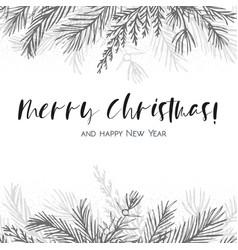 Merry christmas greeting card postcard design vector
