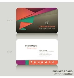 Modern Business cards Design Template vector image vector image