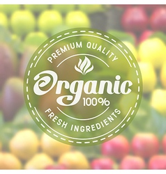 Organic label vector