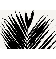 Palm leaf poster design vector