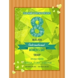 Postcard to March 8 Happy Women s Day vector image vector image