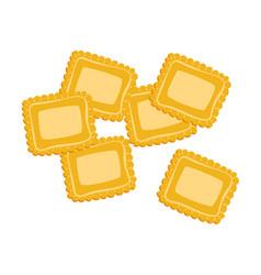 Ravioli pasta uncooked italian pasta macaroni vector