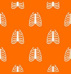 rib cage pattern seamless vector image