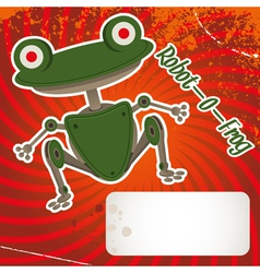 robot frog vector image vector image