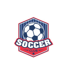 soccer football club shield ball icon vector image vector image