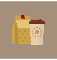 Take Away Coffee Simplified vector image